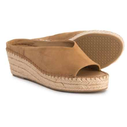 Franco Sarto Pine Espadrille Wedge Sandals - Suede (For Women) in Camel Suede - Closeouts
