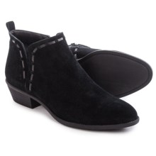 Franco Sarto Rosaria Stitched Ankle Boots - Suede (For Women) in Black - Closeouts