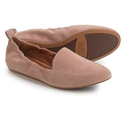 Franco Sarto Stacey Loafers - Suede, Slip-Ons (For Women) in Adobe Rose Suede - Closeouts
