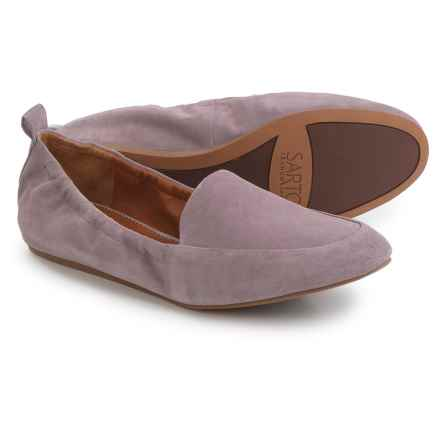 Franco Sarto Stacey Loafers - Suede, Slip-Ons (For Women) in Wisteria Suede - Closeouts