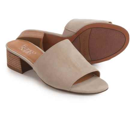 Franco Sarto Tempest Sandals - Suede (For Women) in Light Satin Taupe - Closeouts