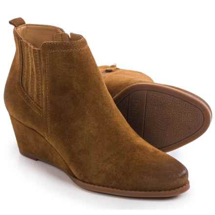 Franco Sarto Welton Wedge Boots - Suede (For Women) in Cognac - Closeouts