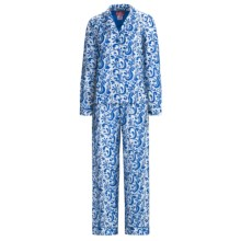 Frankie & Johnny Cotton Voile Pajamas - Long Sleeve (For Women) in Paisley Navy Blue - Closeouts