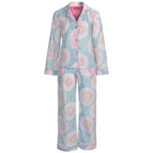 Frankie & Johnny Cotton Voile Pajamas - Long Sleeve (For Women) in Spring Blooms Pastel - Closeouts