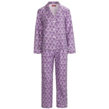 Frankie & Johnny Cotton Voile Pajamas - Long Sleeve (For Women) in Teardrop Purple Passion - Closeouts