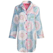 Frankie & Johnny Cotton Voile Sleepshirt - Long Sleeve (For Women) in Spring Blooms Pastel - Closeouts