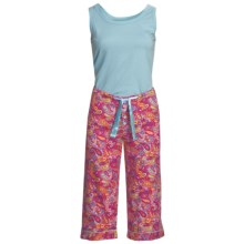 Frankie & Johnny Paisley Tank Top and Capris Pajamas (For Women) in Red/Blue - Closeouts
