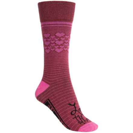 Freaker Lightweight Socks - Mid Calf (For Men and Women) in Love Glove - Closeouts