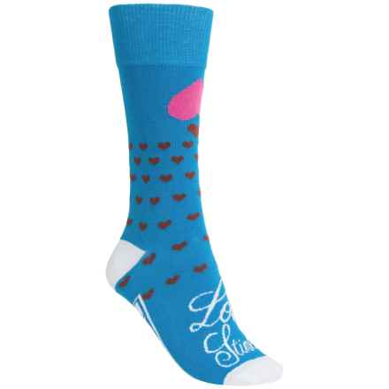 Freaker Lightweight Socks - Mid Calf (For Men and Women) in Love Stinks - Closeouts