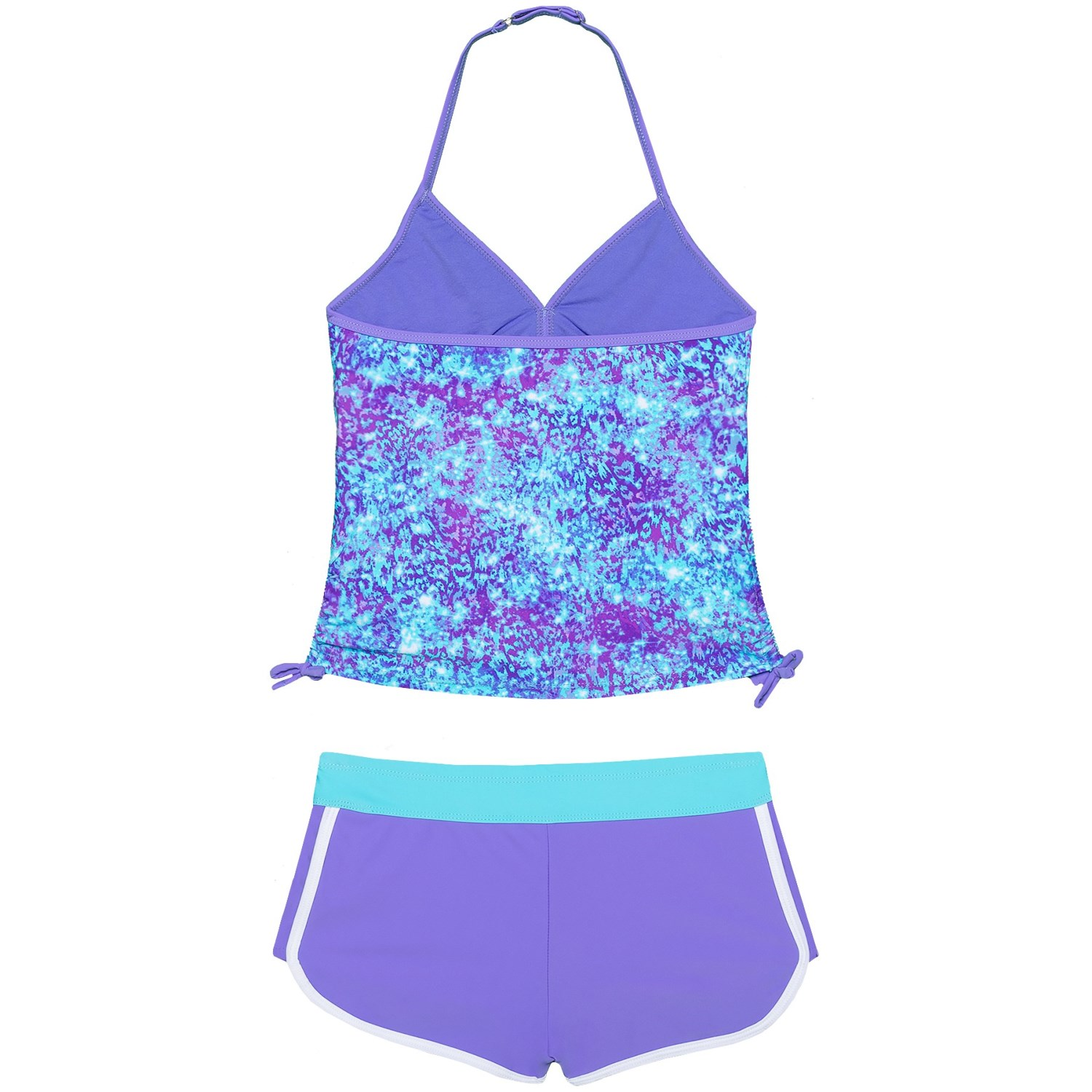 9661867c77 Free Country Adjustable Strap Halter Tankini and Boy Shorts - 2-Piece Set  (For Big Girls)