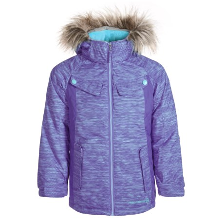 Free Country Boarder Ski Jacket - Insulated (Little Girls) in Ultra Violet