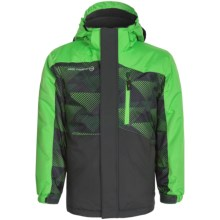 Free Country Boarders Ski Jacket - Insulated (For Little and Big Boys) in Pop Green/Lead Pencil - Closeouts