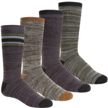 Free Country Boot Socks - 4-Pack, Crew (For Boys) in Marled Olive/Khaki - Closeouts