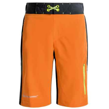 Free Country Color-Block Boardshorts (For Big Boys) in Orang Slice/St - Closeouts