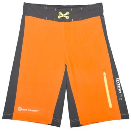huge selection of 8caf7 3173d Free Country Color-Block Boardshorts (For Big Boys) in Orange SliceSteel