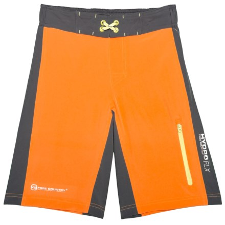 bcac7d332ae7d Free Country Color-Block Boardshorts (For Big Boys) in Orange Slice/Steel