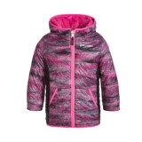 Free Country Color-Blocked Printed Puffer Reversible Jacket - Insulated (Little Girls)
