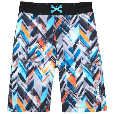 Free Country Drop Off Print Boardshorts (For Big Boys) in Multi - Closeouts