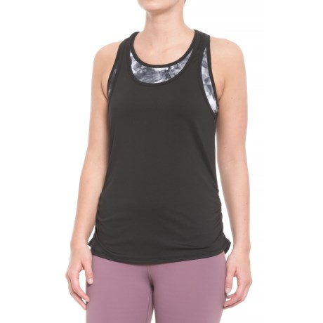 Free Country Free2B B Sporty Floral Tank Top - Built-In Sports Bra (For Women) in Black