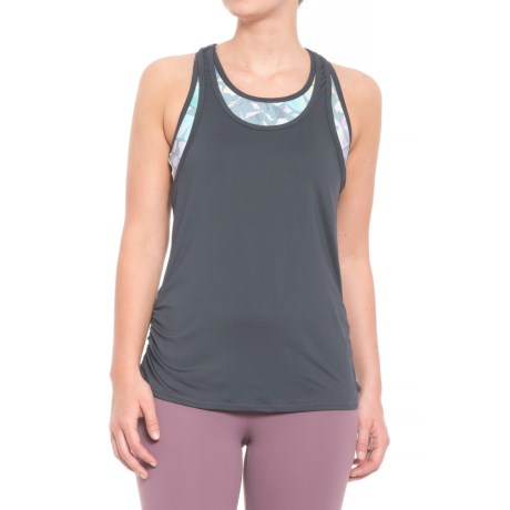 Free Country Free2B B Sporty Kaleidoscope Tank Top - Built-In Sports Bra (For Women) in Charcoal