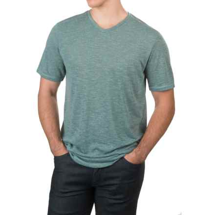 Free Country Heather V-Neck T-Shirt - Short Sleeve (For Men) in Reef Green - Closeouts