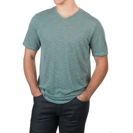 Free Country Heather V-Neck T-Shirt - Short Sleeve (For Men) in Reef Green