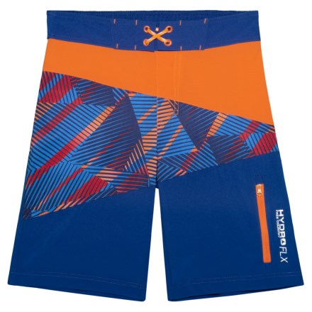 29d03f88f Free Country Impact Zone Print Boardshorts (For Big Boys) in Orange  Crush Blue
