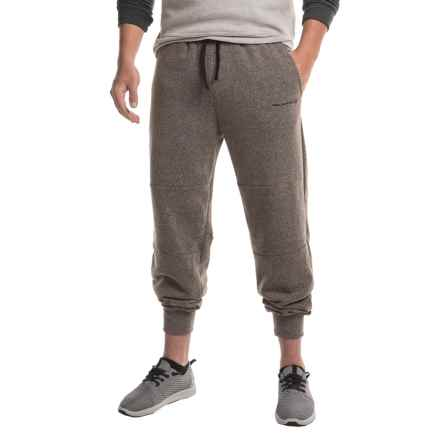 Free Country Lightweight Snow Fleece Joggers (For Men) in Deep Charcoal/Jet Black - Closeouts