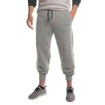 Free Country Lightweight Snow Fleece Joggers (For Men) in True Grey/Deep Charcoal - Closeouts
