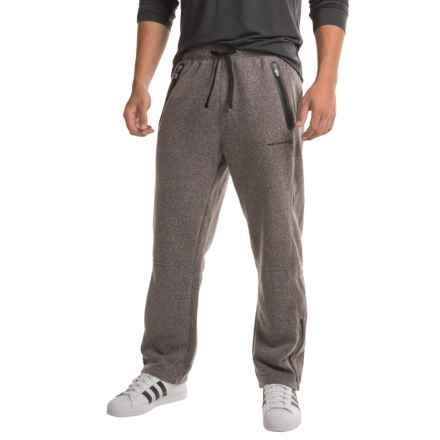 Free Country Lightweight Snow Fleece Pants (For Men) in Deep Charcoal/Jet Black - Closeouts