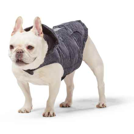 "Free Country Premium Down Dog Jacket - 20"", Large in Black/Black - Closeouts"