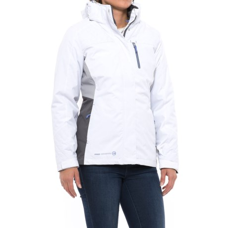 Free Country Radiance Systems Jacket - Insulated, 3-in-1 (For Women) in White/Mingrey