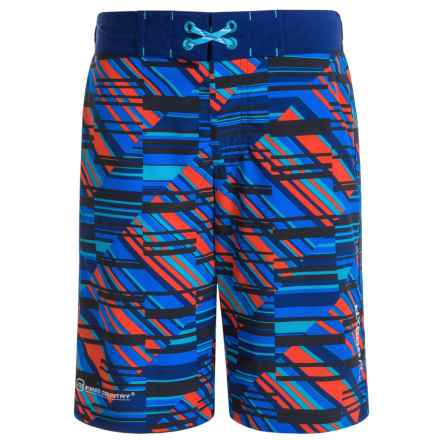 Free Country Sand Bar Boardshorts (For Big Boys) in Electric Blue - Closeouts