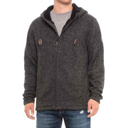 Free Country Sherpa-Lined Mountain Fleece Hooded Jacket - Zip Front (For Men) in Jet Black - Overstock