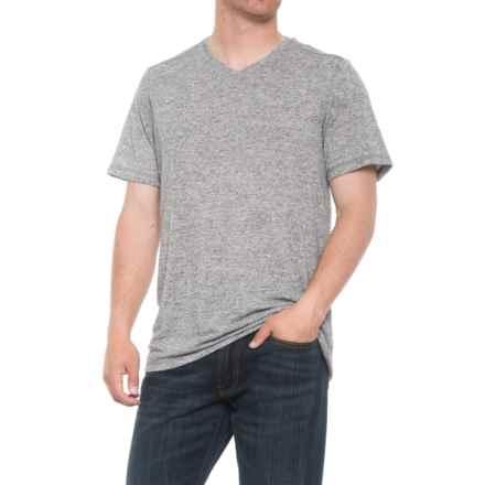 Free Country Slub T-Shirt - V-Neck, Short Sleeve (For Men) in Grey Heather - Overstock