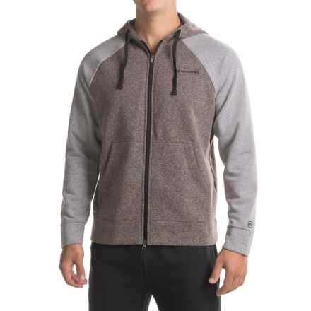Free Country Snow Fleece Hoodie (For Men) in Deep Charcoal Heather/True Grey/Black - Closeouts