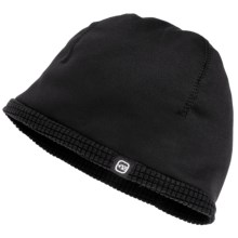 Free Country Stretch Fleece Beanie Hat - Reversible (For Boys and Girls) in Black - Closeouts