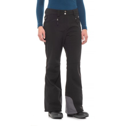 fe6d7e074170b Free Country Super Soft Shell Ski Pants (For Women) in Black/Mineral Grey