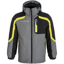 Free Country Systems Jacket - Insulated, 3-in-1 (For Big Boys) in Concrete/Lead Pencil/Blazing Yellow - Closeouts
