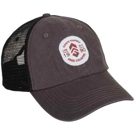 Free Country Trucker Hat (For Men) in Dark Grey - Closeouts dbc0bb9e0b14