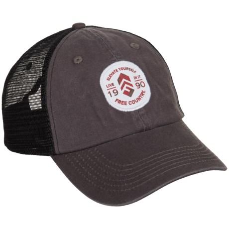 Free Country Trucker Hat (For Men) in Dark Grey