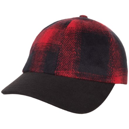 4cf3c7785b9f3 Free Country Wool-Blend Cap (For Men) in Red Black Plaid -