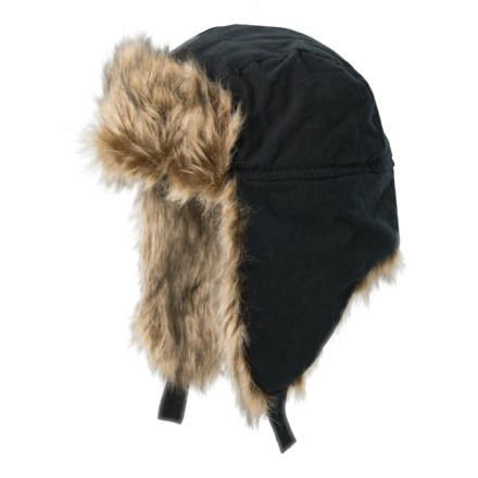 1c0d3238400 Free Country Woven Canvas Aviator Hat - Insulated (For Men) in Black -  Closeouts
