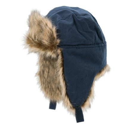 5b2fbfad7fa Free Country Woven Canvas Aviator Hat - Insulated (For Men) in Navy -  Closeouts