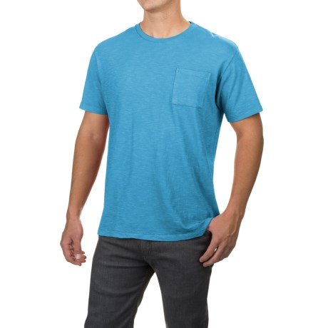 Free Nature Artistry in Motion Slub-Knit T-Shirt - Short Sleeve (For Men) in Ballad Blue