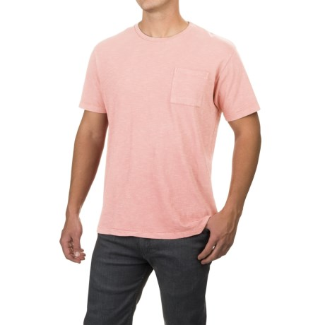 Free Nature Artistry in Motion Slub-Knit T-Shirt - Short Sleeve (For Men) in Barely Pink