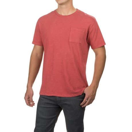 Free Nature Artistry in Motion Slub-Knit T-Shirt - Short Sleeve (For Men) in Faded Red
