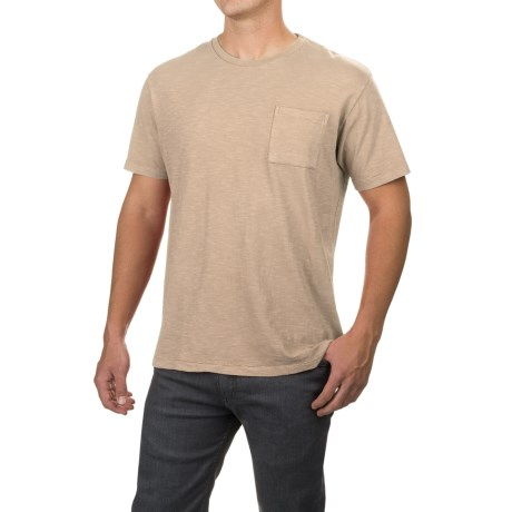 Free Nature Artistry in Motion Slub-Knit T-Shirt - Short Sleeve (For Men) in Stone