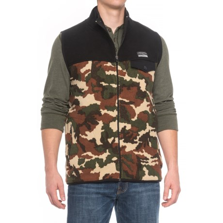 Free Nature Color-Block Fleece Vest (For Men) in Black/Field Camo/Black