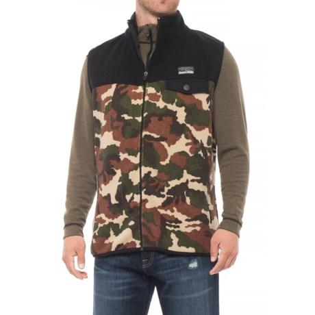 Free Nature Color-Block Fleece Vest (For Men) in Camo/Black